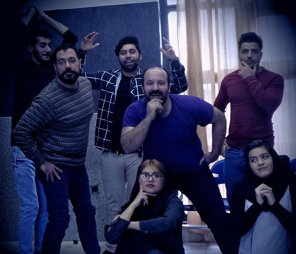 Drama therapy workshop in Iran.