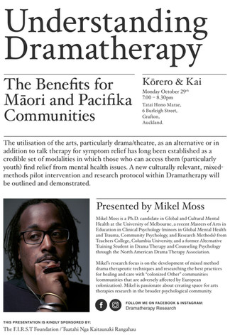 New Zealand: Event to focus on the benefits of dramatherapy for the Māori and Pacifika communities