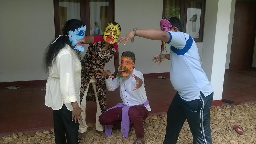 Playing with masks as therapy, Sri Lanka