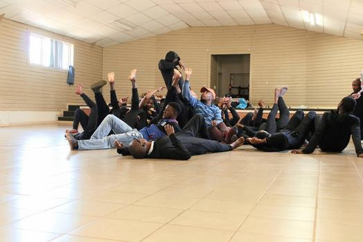 Movement exercise as part of drama therapy with Soweto youth in South Africa