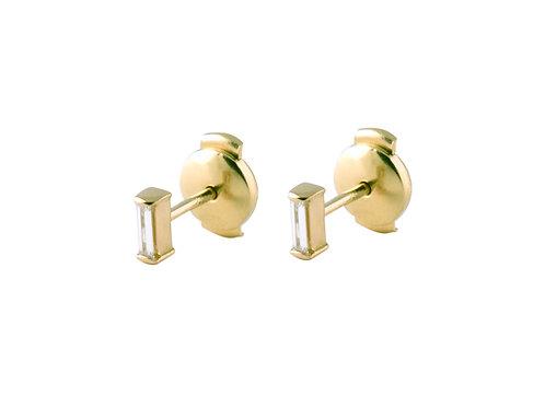 Tip-cat diamonds earrings 18kt gold