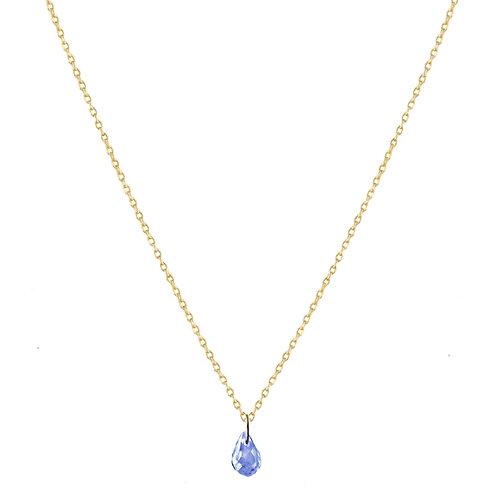 Briolette blue sapphire necklace