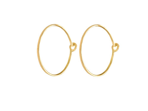Welt hoop earrings 18k gold