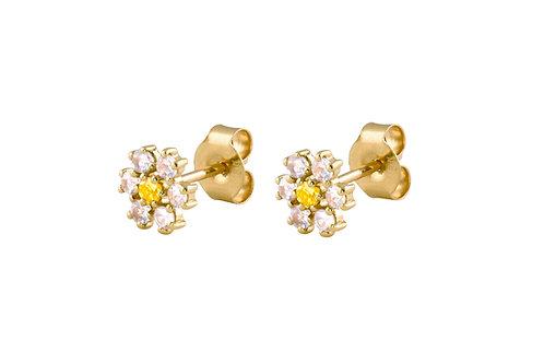 Daisy 18k gold earring