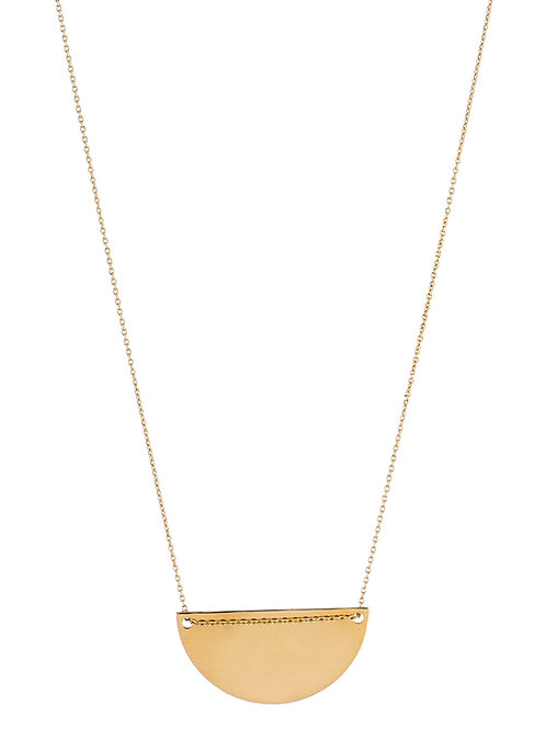 Moon necklace L gold plated 925 silver