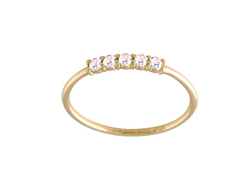 Five diamonds ring  L 18kt gold