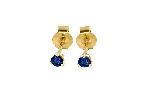 Blue sapphires 18k gold stud earrings