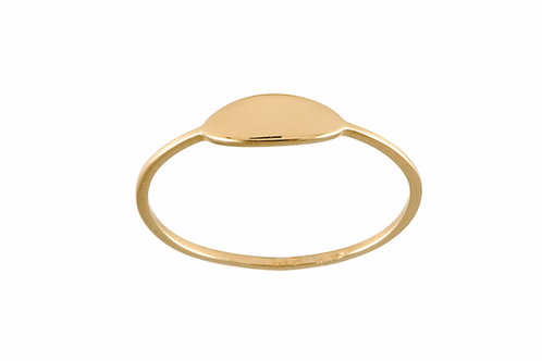 Navette ring gold plated 925 silver