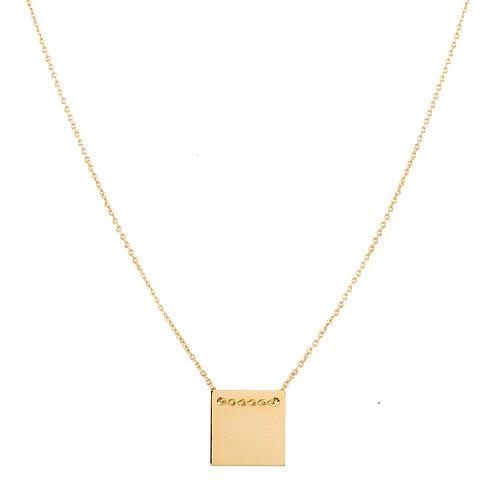 Square necklace L gold plated 925 silver - Collier Square L argent doré