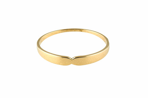 Serpentine  medium ring 18k gold