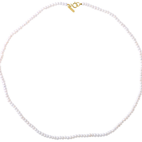 Row freshwater pearls gold plated 925 silver
