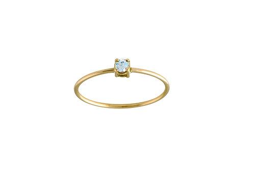 Only aquamarine ring S 18k gold