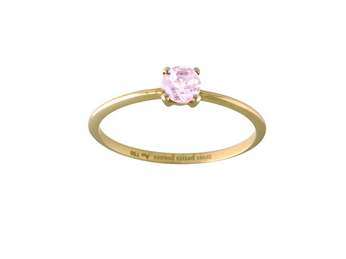 Only pink tourmaline ring L 18 kt gold