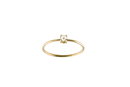 Pearl ring golden brass - Bague Pearl laiton doré