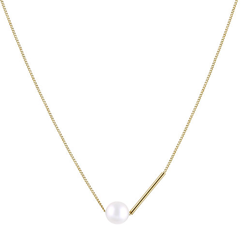Pearl necklace 1 gold plated 925 silver
