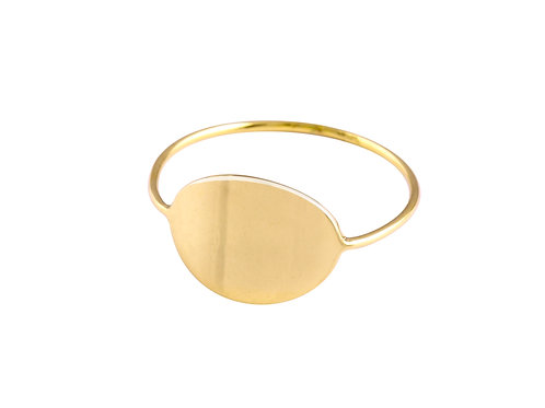 Ellipse ring 2 18kt gold - Bague Ellipse 2 or 18 gold