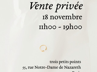 18 november - private sales / vente privée