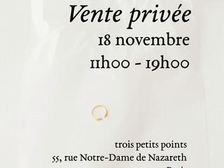 18 november - private sales / vente privée