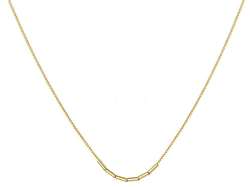 Tube necklace 18k gold