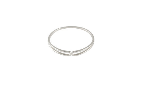 Serpentine ring 2 18kt gold - Bague 2 Serpentine or 18ct