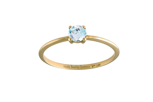 Only aquamarine ring L 18kt gold