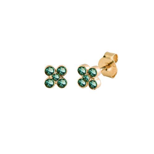 Emeralds As 18k gold earrings