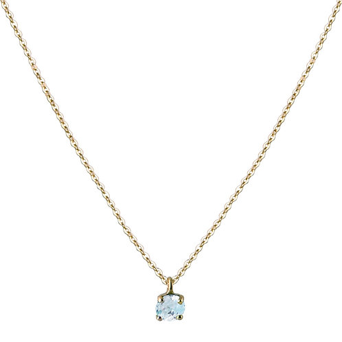 Only aquamarine necklace L 18kt gold