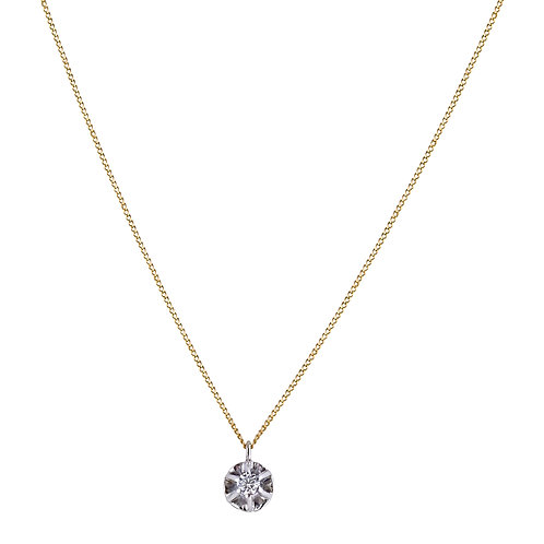 Daisy necklace 18kt gold - Collier Daisy or 18ct