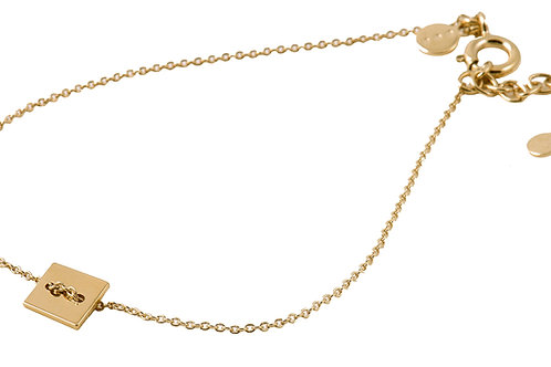 Square bracelet 18kt gold - Bracelet Square or 18ct