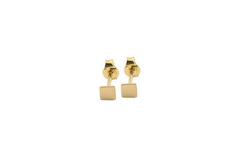 Square earrings 18kt gold - Boucles d'oreilles or 18ct