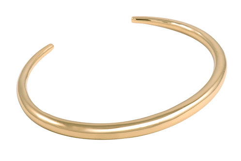 Crescent cuff L gold plated 925 silver