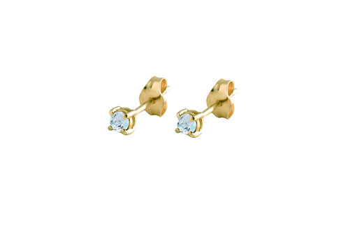 Only aquamarine earrings 18kt gold