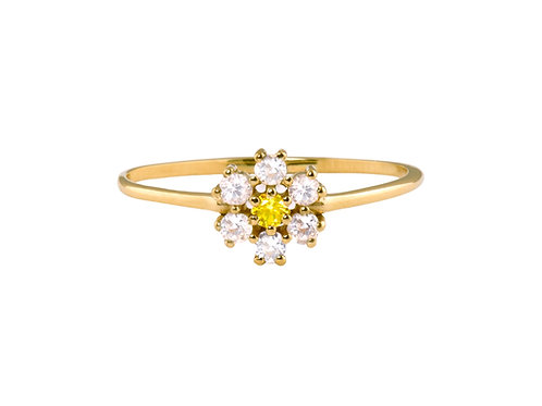 Daisy 18k gold ring