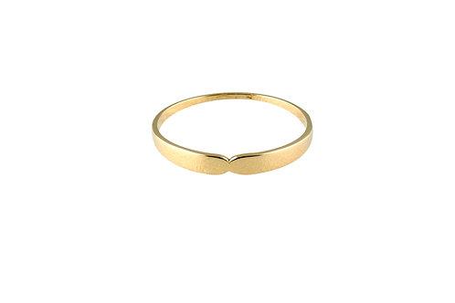 Serpentine ring 4 golden brass