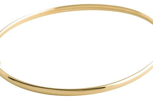 Curve half round bracelet 2 18kt gold - Bracelet 2 Curve demi-jonc or 18ct
