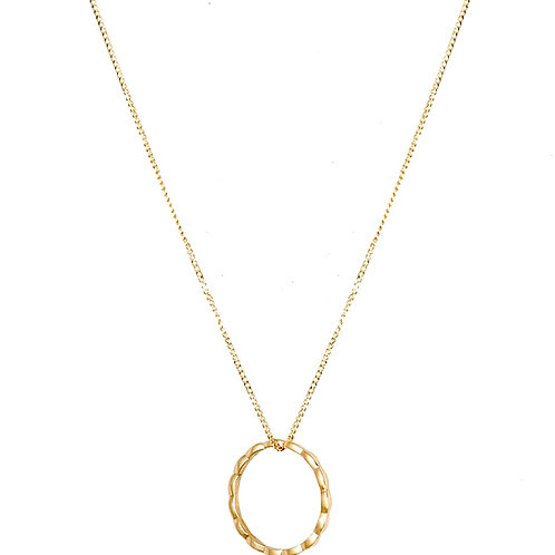Navette necklace 18k gold