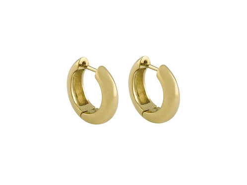 Wide/S huggies gold plated 925 silver
