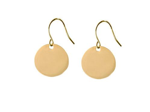 Medaille 18k gold earrings