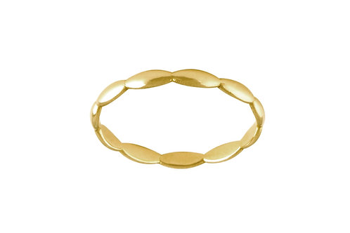 Navette ring L gold plated 925 silver