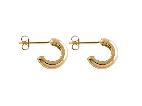 Curve half hoop earrings gold plated 925 silver