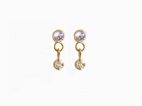 Constellation diamonds earrings 18k gold