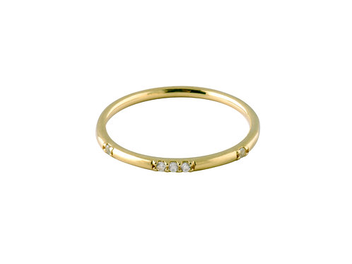 Stardust white topaz ring 2 gold plated 925 silver