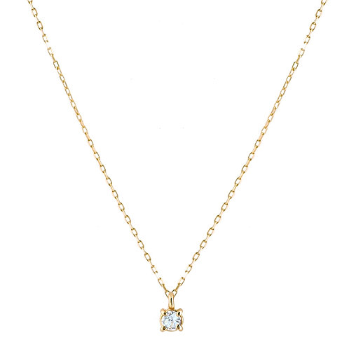 Only aquamarine necklace S 18kt gold
