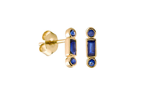 Blue sapphires Reciproque 18k gold earrings