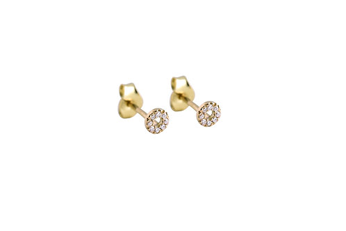 Saturne earrings 2 18kt gold - Boucles d'oreilles 2 Saturne or 18ct