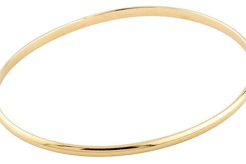 Curve half round bracelet 1 18kt gold - Bracelet 1 demi-jonc or 18ct