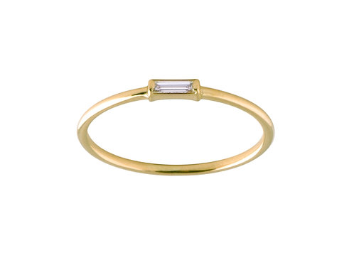 Tip-cat diamond ring 18k gold