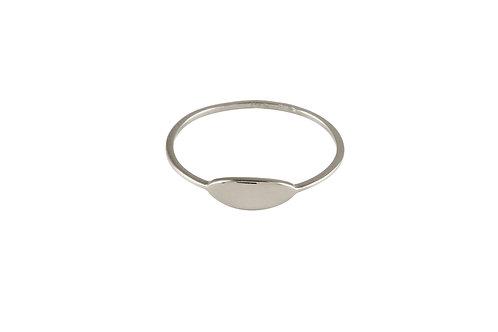 Navette ring 2 18kt white gold