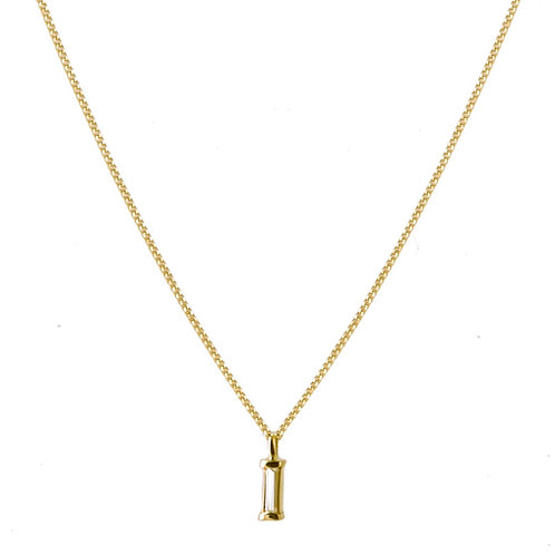 Tip-cat diamond necklace 18k gold