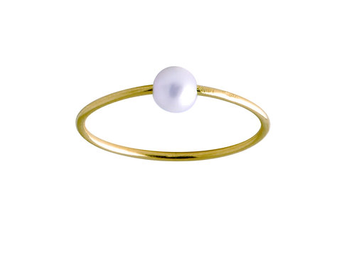 Pearl 18k gold ring
